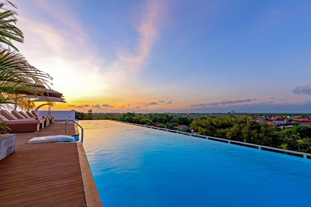 The swimming pool at or near Infinity8 Bali