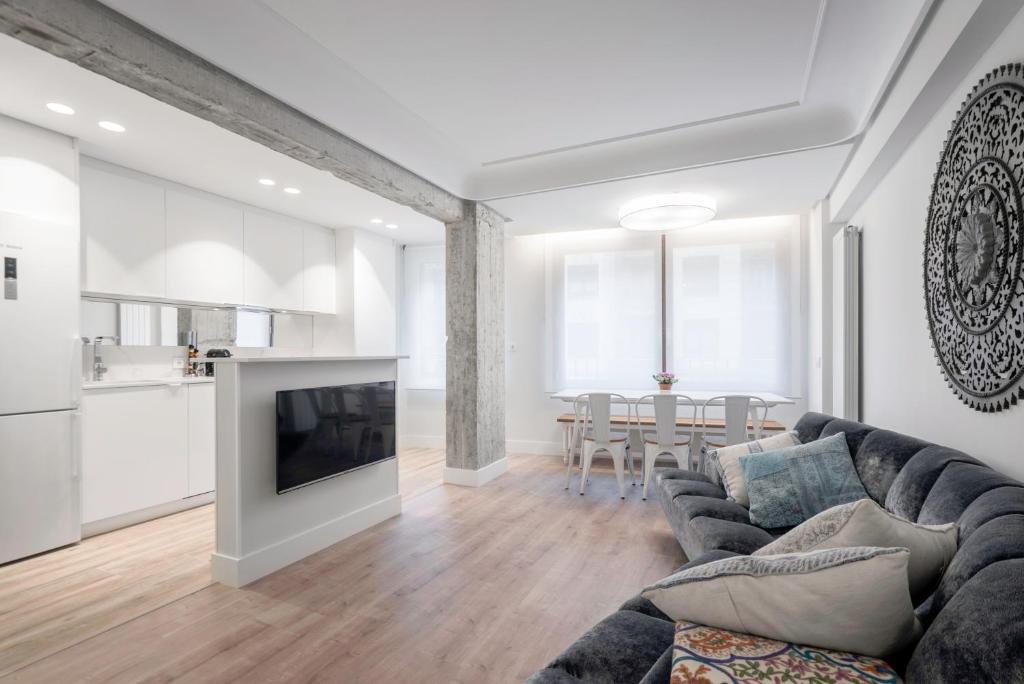 Zona de estar de Apartamento Zurriola Luxury - Surf Beach