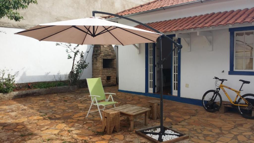 A porch or other outdoor area at Torre Hostel