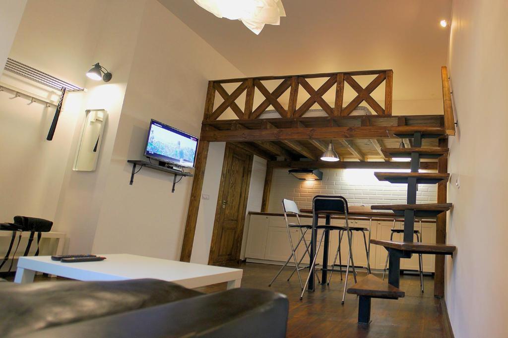 Телевизор и/или развлекательный центр в Brestappart Studio Dzerzhynskogo