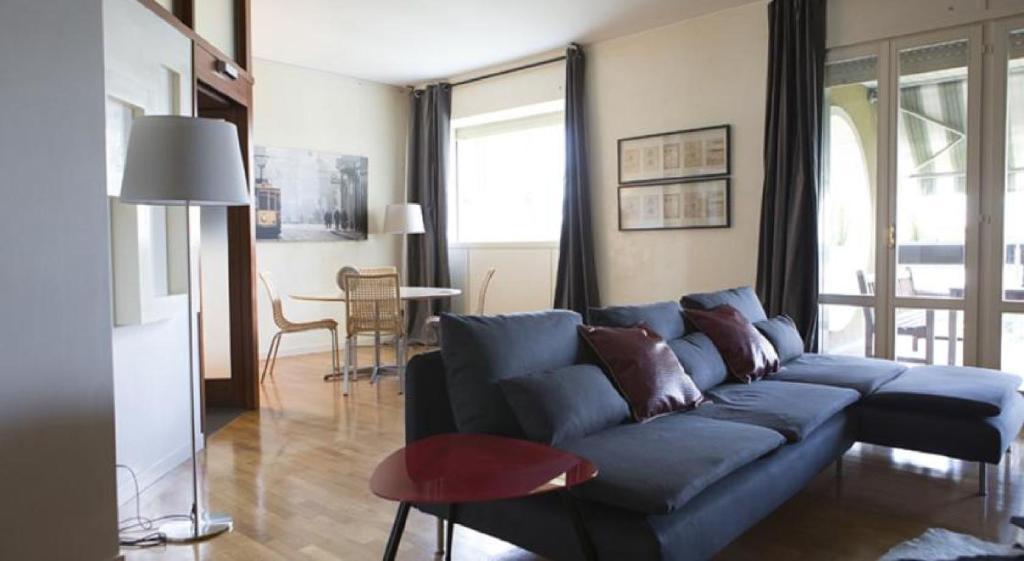 The lounge or bar area at San Siro Apartment