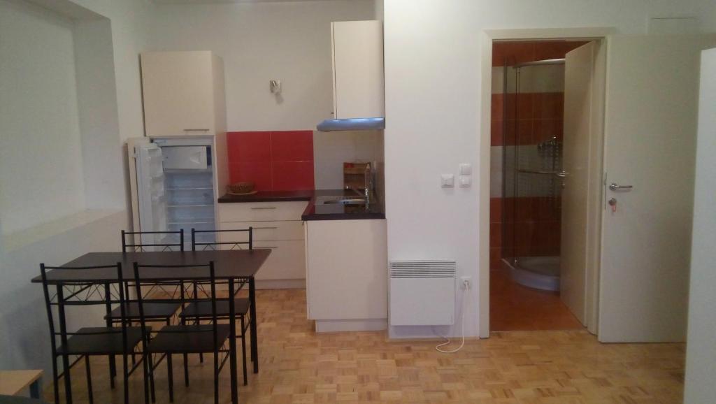 A kitchen or kitchenette at Apartmaji Gabrijela