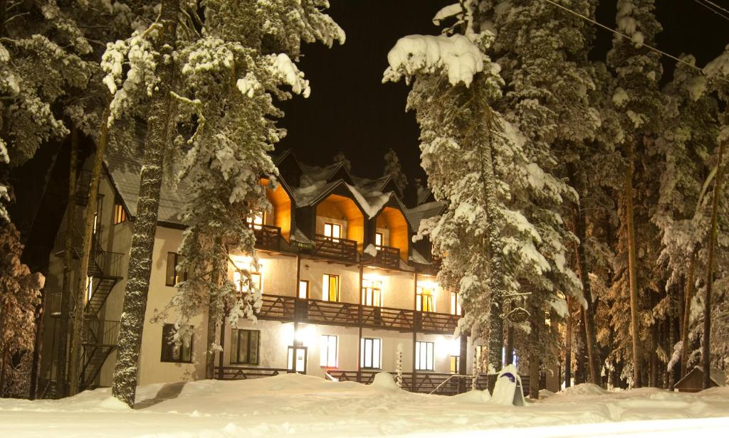 Гостиница Лагуна зимой
