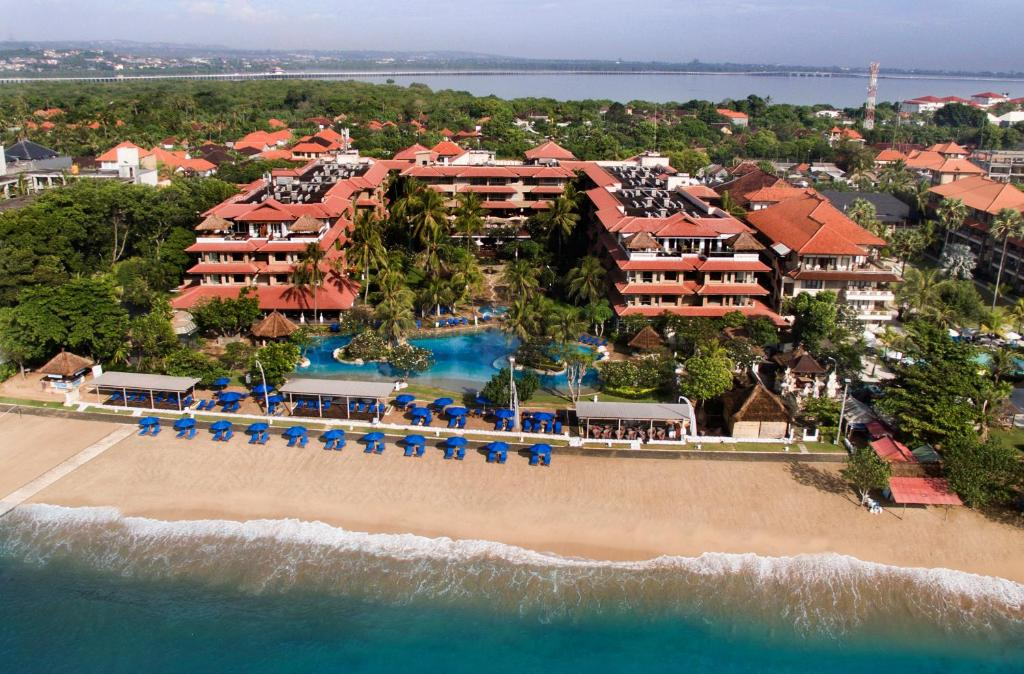 A bird's-eye view of Hotel Nikko Bali Benoa Beach