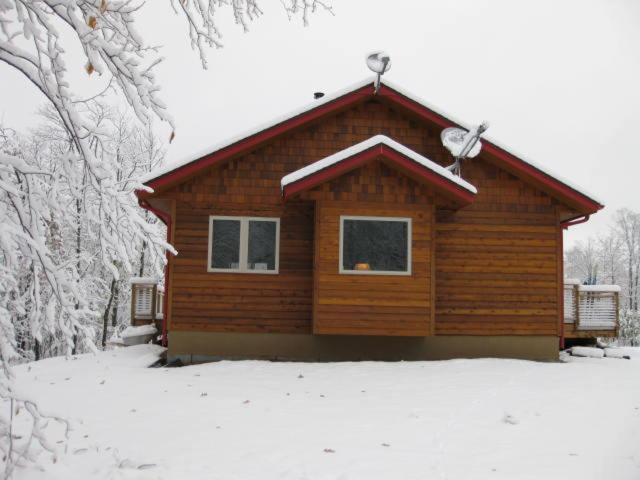The Bear Cabin during the winter