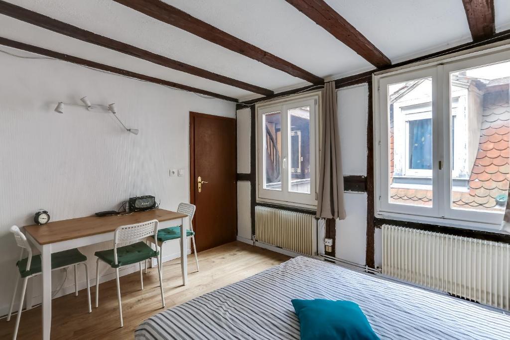 apartment studio petite france strasbourg france. Black Bedroom Furniture Sets. Home Design Ideas
