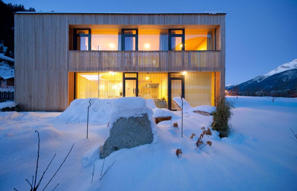 Ferienhaus Alpin im Winter