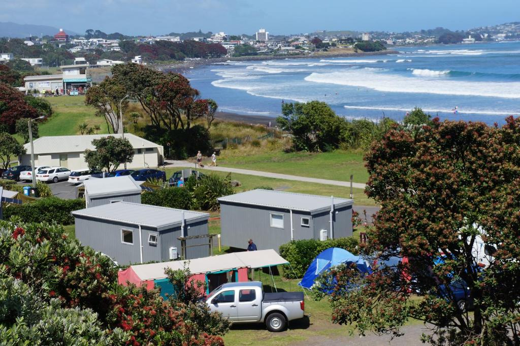 A bird's-eye view of Fitzroy Beach Holiday Park