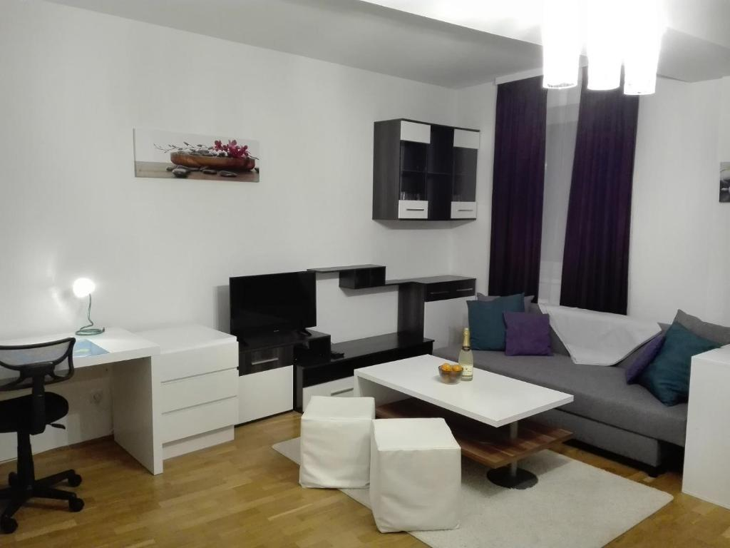 1,5 Zimmer-Apartmentにあるシーティングエリア