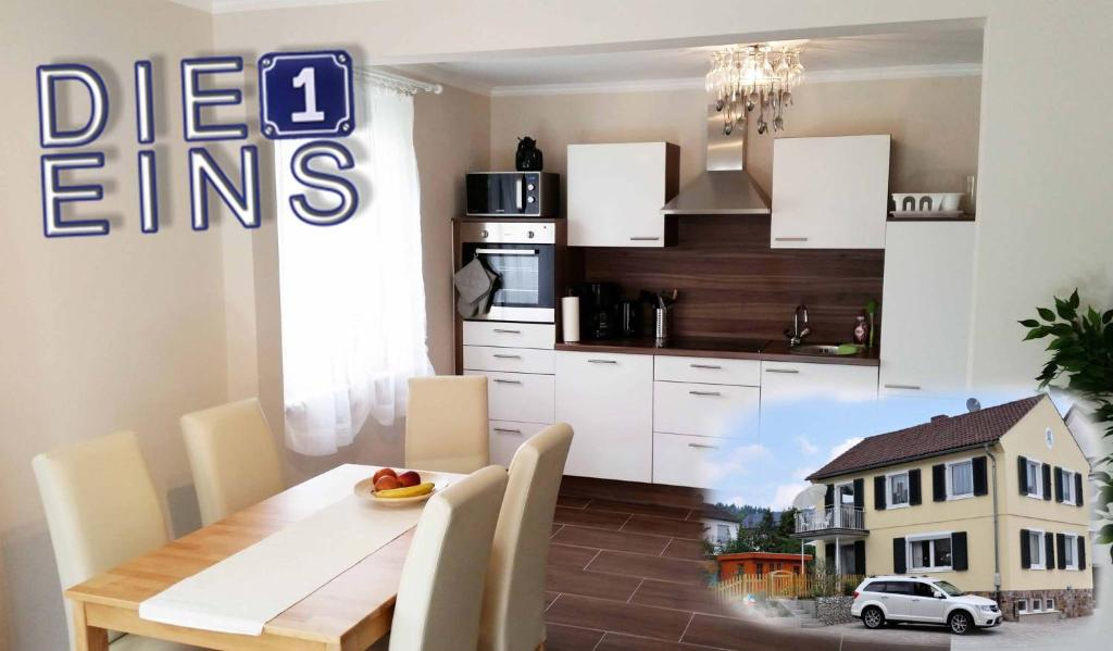 Küche/Küchenzeile in der Unterkunft Ferienwohnung DieEins