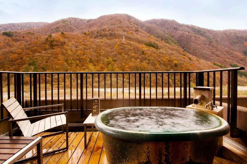 ポイント1.露天風呂でゆったりする客室