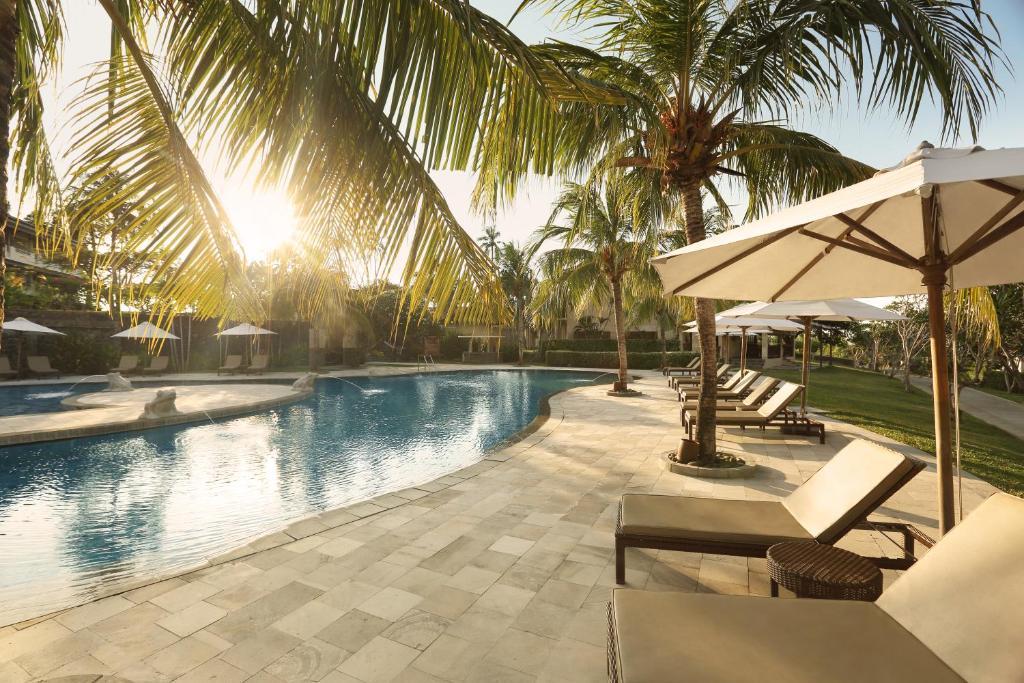 The swimming pool at or near Grand Luley Manado