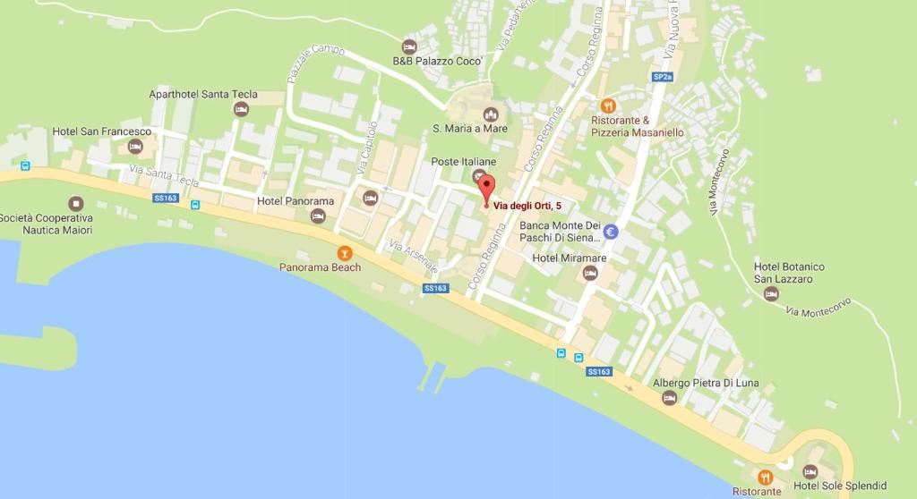 Maiori Italy Map.Affittacamere Mare Luna Maiori Italy Booking Com