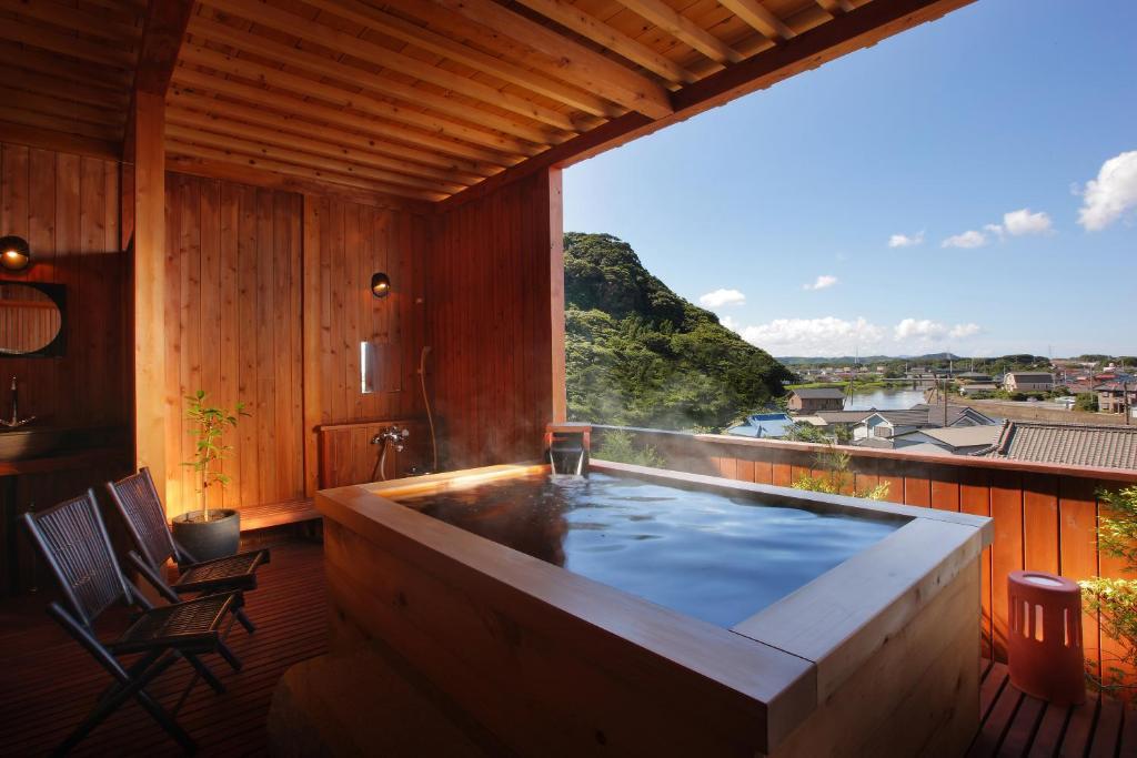 ポイント1.絶景の貸切露天風呂