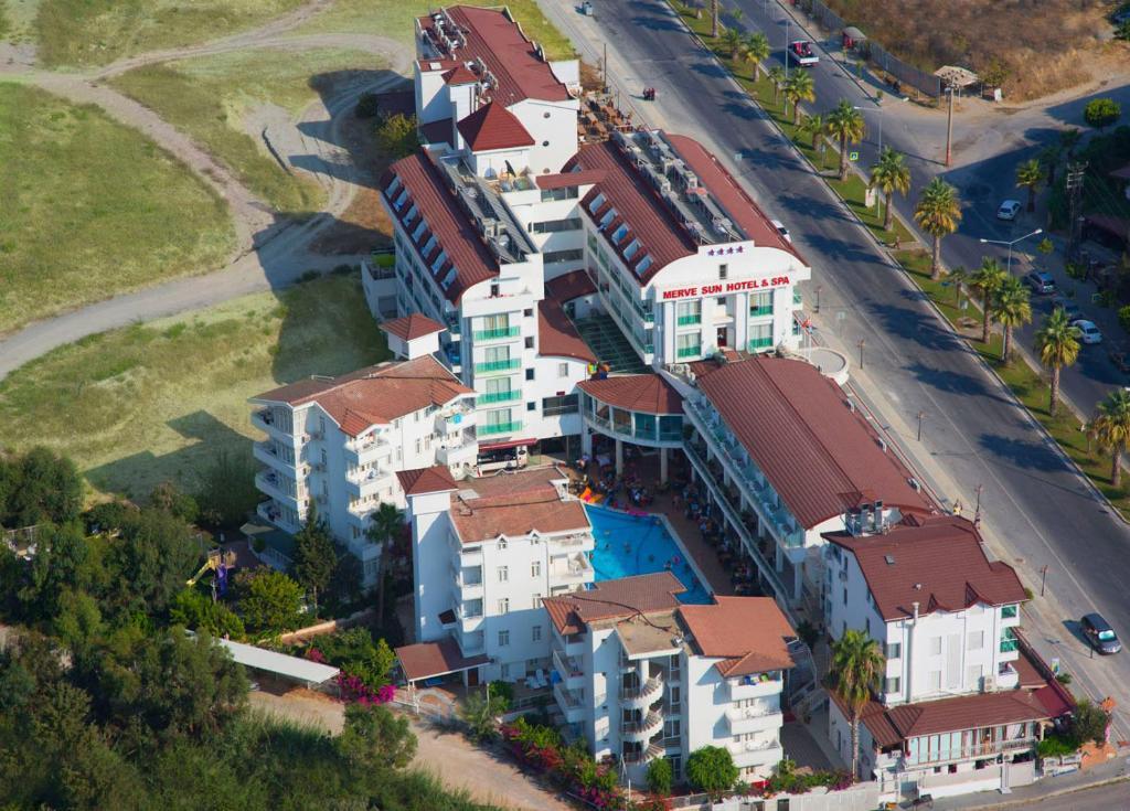 A bird's-eye view of Merve Sun Hotel & SPA