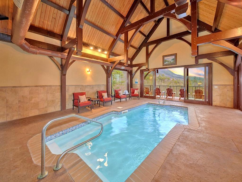 Vacation Home Indoor Heated Pool On Summit Point Four Bedroom Cabin