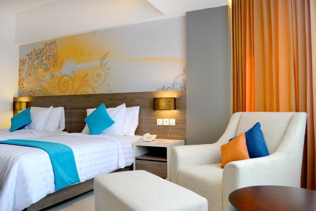 Tempat tidur dalam kamar di Horison Ultima Bandung