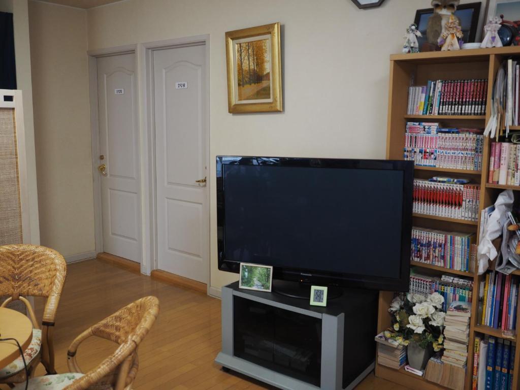 A television and/or entertainment center at Oyado Aozora