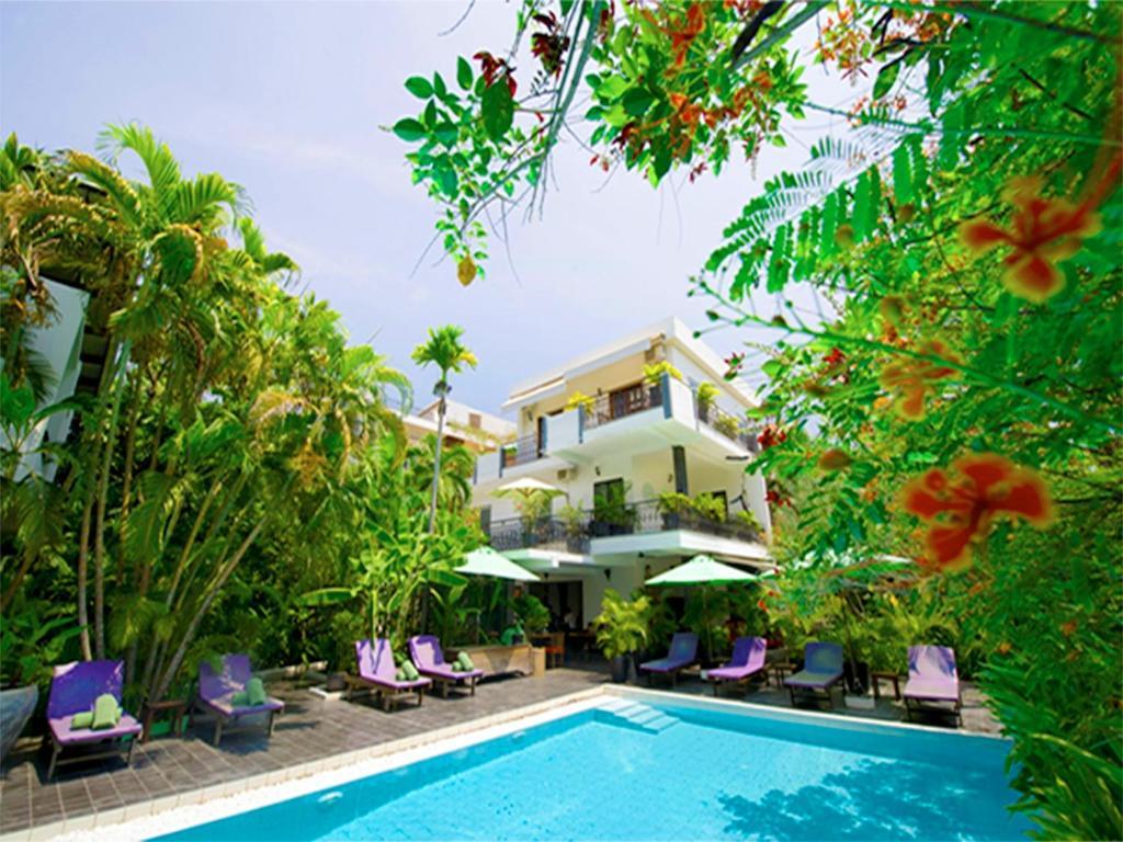 The swimming pool at or near Samsara Villa (by Villa Langka)