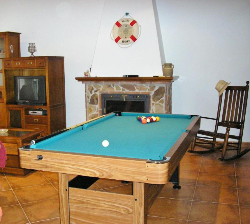 A pool table at Villa Pelae