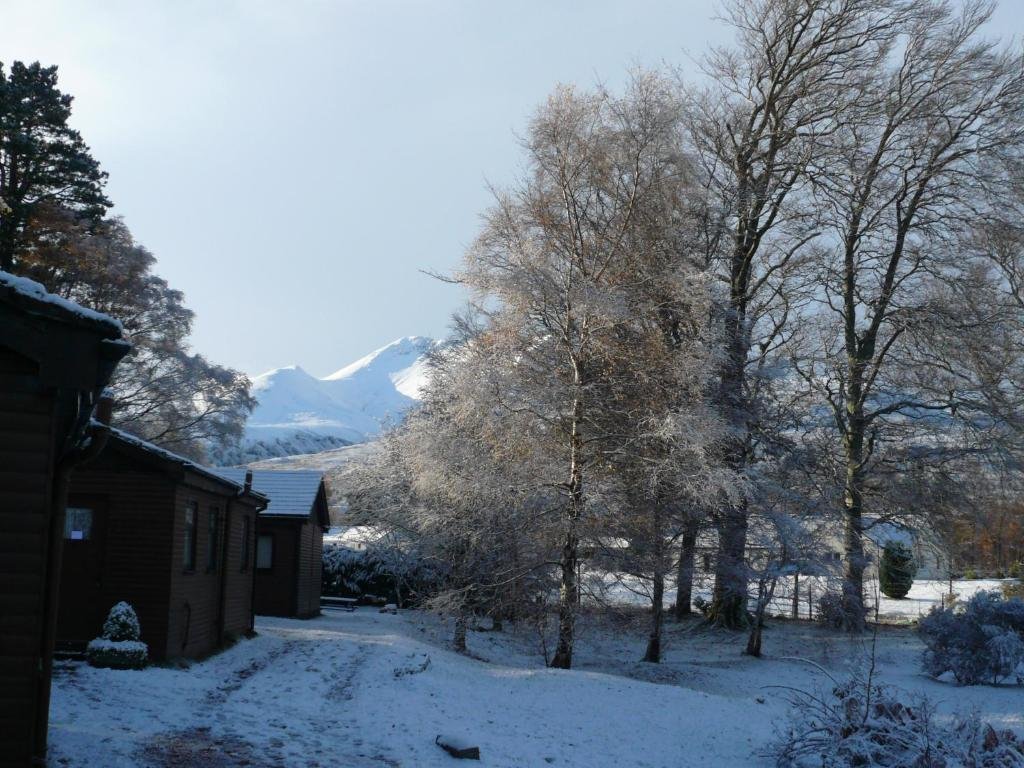 Kinlochewe Mountain Chalets during the winter