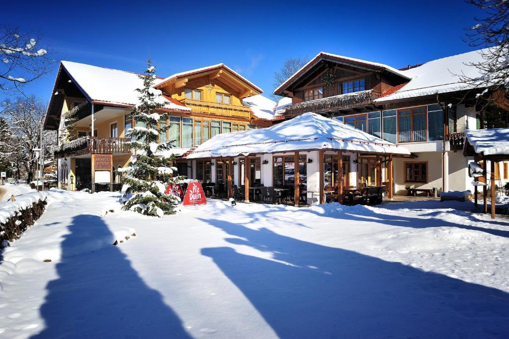 Romantik Hotel Böld during the winter