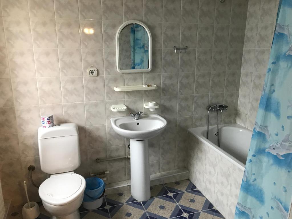 A bathroom at Zhovtnevyi