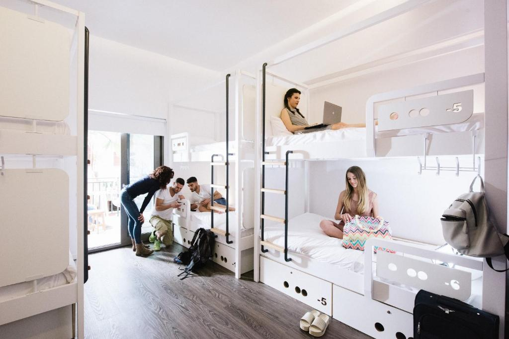 A family staying at Cocoon City Hostel