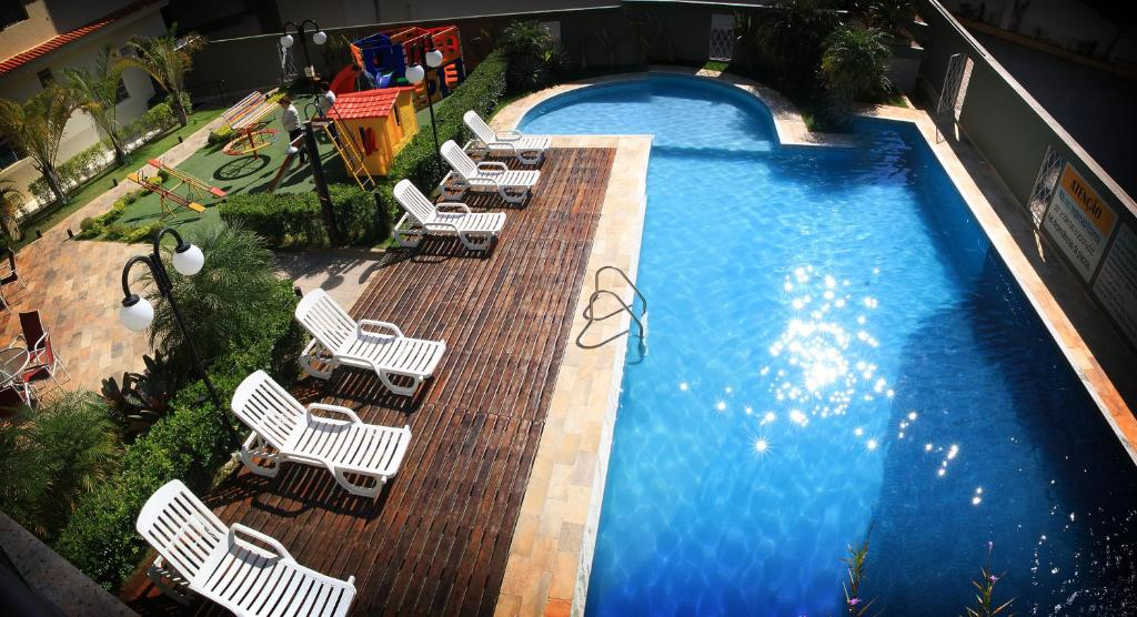 A view of the pool at Hotel Santo Graal or nearby