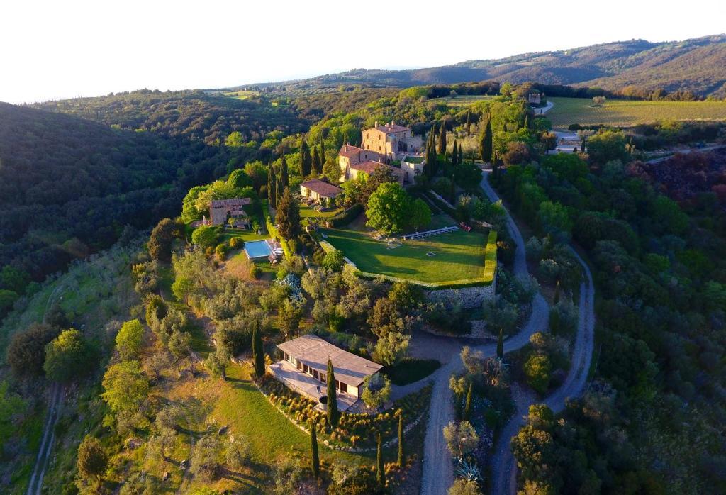 A bird's-eye view of Castello Di Vicarello
