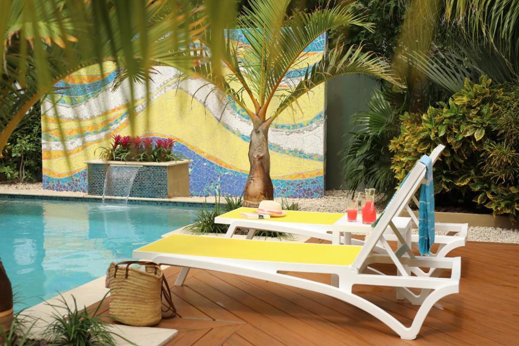 The swimming pool at or near Bubali Bliss Studios