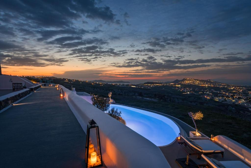 A view of the pool at Carpe Diem Santorini - Small Luxury Hotels of the World or nearby