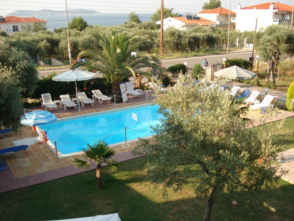A view of the pool at Chrisa Hotel or nearby