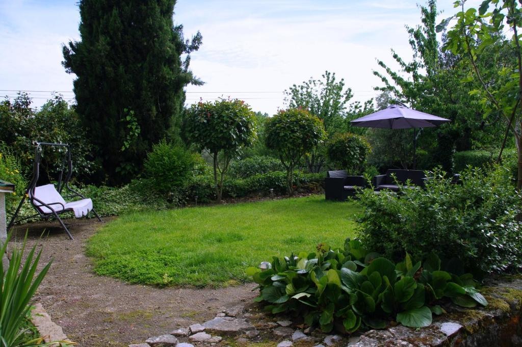 A garden outside Tapada Flats