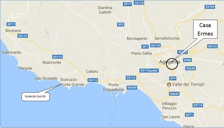 Agrigento Italy Map.Vacation Home Casa Ermes Agrigento Italy Booking Com
