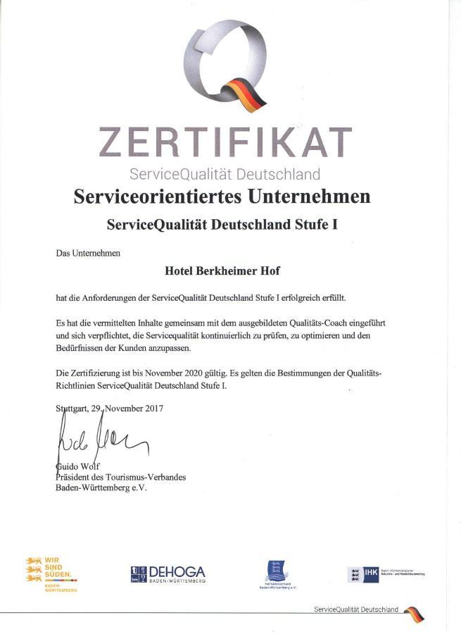 Hotel Berkheimer Hof, Esslingen – Updated 2018 Prices