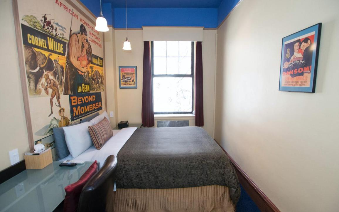 The rooms at the Chelsea Pines in Meatpacking District have quirky decor with funky wall vinyls