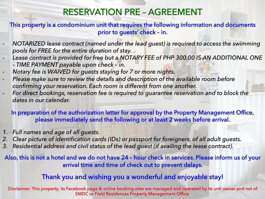 Field Residences, Manila, Philippines - Booking com