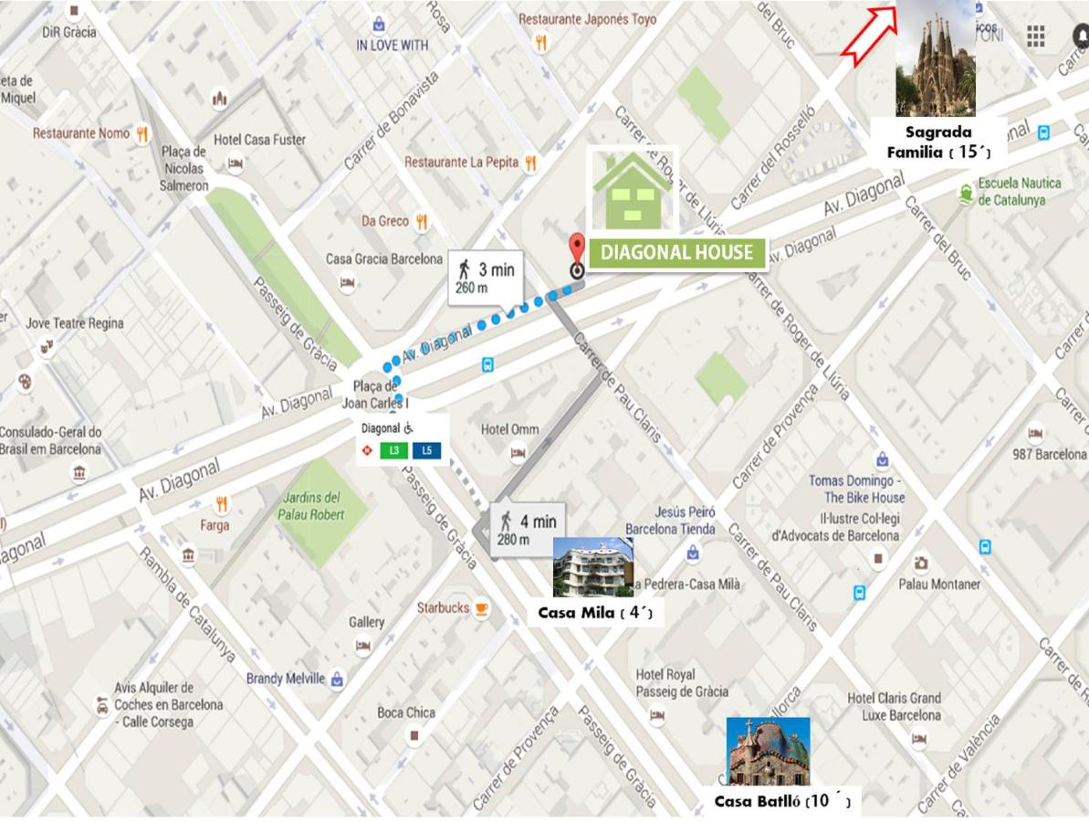 Carte Eixample Barcelone.Diagonal House Hostel Barcelone Tarifs 2019