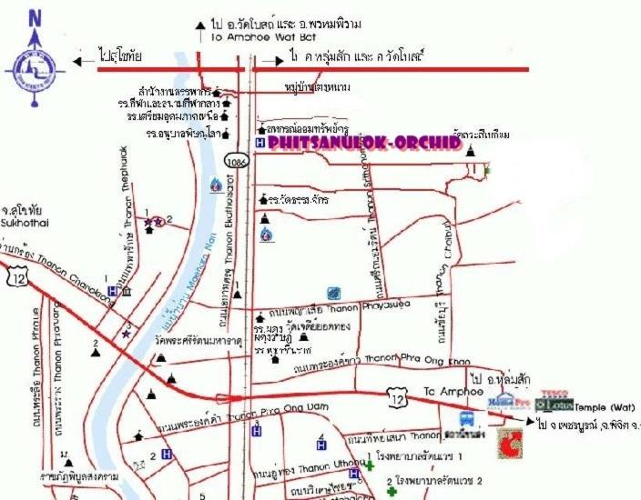Phitsanulok Thailand Map.Phitsanulok Orchid Hotel Thailand Booking Com