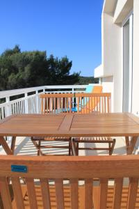 A balcony or terrace at Apartments Lucia
