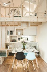 A kitchen or kitchenette at Zelije Apartments Trindade