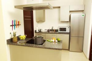 A kitchen or kitchenette at Green View at Blue Bay Curacao
