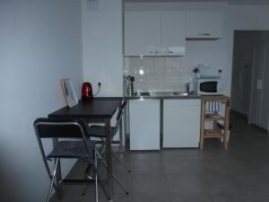 Cuisine ou kitchenette dans l'établissement beau studio