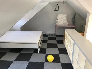 Een bed of bedden in een kamer bij Appartement Oostende