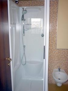 Koupelna v ubytování Residence La Sorgente