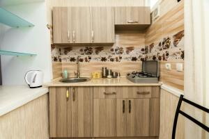 A kitchen or kitchenette at Apartment in Cozy Little Yard
