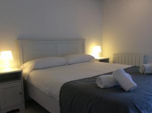 Cama o camas de una habitación en Alderdi Eder