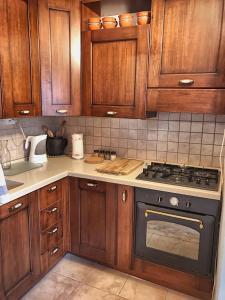 Kuhinja oz. manjša kuhinja v nastanitvi Predel House
