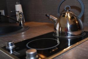 Cuisine ou kitchenette dans l'établissement Myappartepinal